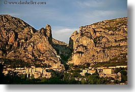 europe, france, horizontal, mountains, moustiers, provence, st marie, towns, photograph
