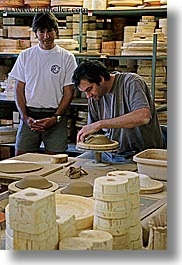 clay, europe, france, men, moustiers, people, potter, provence, st marie, vertical, photograph