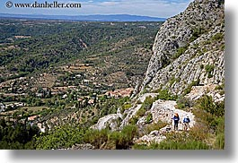 activities, europe, france, hikers, hiking, horizontal, landscapes, moustiers, people, provence, scenics, st marie, photograph