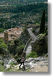 activities, europe, france, hikers, hiking, landscapes, moustiers, people, provence, scenics, st marie, vertical, photograph