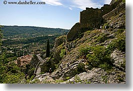 activities, europe, france, hikers, hiking, horizontal, monestaries, moustiers, people, provence, scenics, st marie, photograph