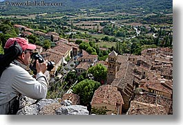 artists, clothes, europe, france, hats, horizontal, landscapes, men, moustiers, people, photographers, provence, scenics, st marie, photograph