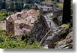 cobblestones, europe, france, horizontal, materials, monestaries, moustiers, provence, scenics, st marie, stairs, photograph