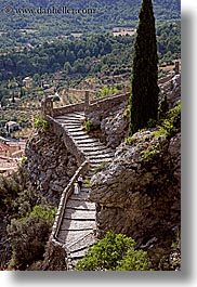 cobblestones, europe, france, materials, monestaries, moustiers, provence, scenics, st marie, stairs, vertical, photograph