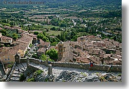 cobblestones, europe, france, horizontal, materials, moustiers, overlook, provence, scenics, st marie, towns, photograph