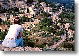 europe, france, hilltown, horizontal, overlooking, people, provence, rppl, womens, photograph