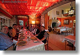 colors, diners, dinner, emotions, europe, foods, france, horizontal, laugh, provence, red, restaurants, photograph