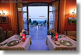 blues, colors, europe, france, horizontal, interiors, provence, restaurants, photograph