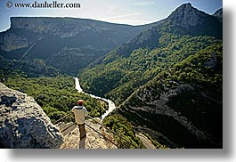 aerials, canyons, europe, france, horizontal, men, mountains, nature, people, perspective, platforms, provence, scenics, viewing, photograph