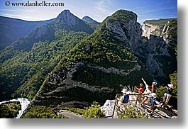 aerials, canyons, europe, france, groups, horizontal, mountains, nature, people, perspective, platforms, provence, scenics, viewing, photograph
