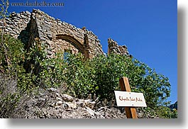 andre, architectural ruins, buildings, chapelle, europe, france, horizontal, provence, scenics, structures, photograph