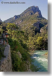 europe, france, hikers, mountains, nature, provence, rivers, scenics, vertical, photograph