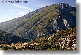 europe, france, horizontal, houses, mountains, nature, provence, scenics, photograph