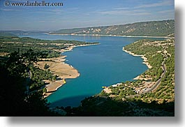 aerials, europe, france, horizontal, lakes, perspective, provence, scenics, photograph