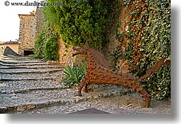 arts, colors, europe, france, green, horizontal, irons, ivy, metal, nature, plants, provence, seillans, photograph