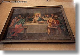 arts, dinner, europe, foods, france, horizontal, jesus, last, paintings, provence, religious, seillans, supper, photograph