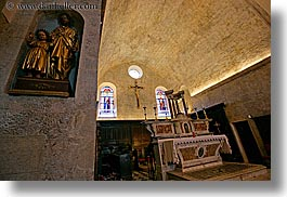 altar, churches, crosses, europe, france, horizontal, jesus, provence, religious, st paul, statues, photograph