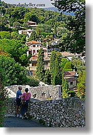 couples, europe, france, landscapes, men, people, provence, st paul, vertical, viewing, womens, photograph