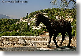 arts, europe, france, horizontal, horse shoe, horses, irons, materials, modern art, provence, scanic, st paul, photograph