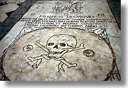 bones, crosses, europe, france, horizontal, provence, skulls, st paul, photograph