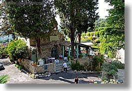 cafes, europe, france, horizontal, provence, small, st paul, stones, photograph