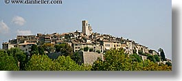 cityscapes, europe, france, horizontal, panoramic, provence, st paul, photograph