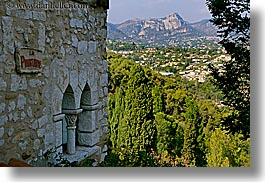 europe, france, horizontal, mountains, provence, scenics, st paul, stones, walls, photograph