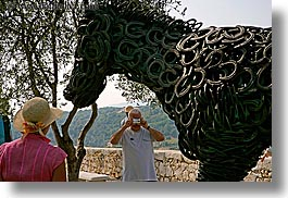 artists, arts, cameras, colors, europe, france, horizontal, horse shoe, horses, irons, materials, men, modern art, people, photographers, pink, provence, st paul, tourists, womens, photograph