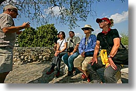 europe, france, guides, horizontal, men, people, provence, st paul, tour guides, tourists, womens, photograph