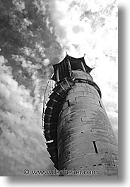 black and white, europe, france, provence, tarascon, towers, vertical, photograph