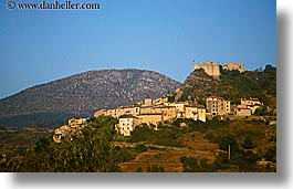 buildings, castles, europe, france, hills, hilltop, horizontal, nature, provence, scenics, structures, towns, trigance, photograph