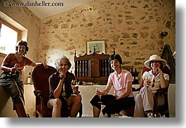 europe, foods, france, groups, horizontal, people, provence, senior citizen, wine glass, wines, womens, photograph