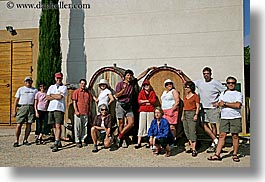 europe, foods, france, groups, horizontal, people, provence, shot, wine barrel, womens, photograph