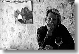 black and white, emotions, europe, france, groups, horizontal, lisa, lisa halderman, people, provence, serious, womens, photograph