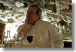 clothes, emotions, europe, foods, france, glasses, groups, happy, horizontal, men, people, provence, red wine, richard, richard felicia, senior citizen, wine glass, wines, photograph
