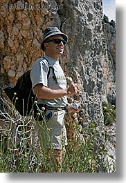 clothes, europe, france, groups, hats, men, outdoors, people, provence, sergio, sunglasses, vertical, photograph