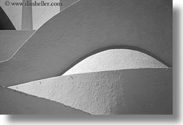 abstracts, amorgos, arts, black and white, europe, greece, horizontal, stucko, walls, photograph