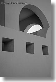 abstracts, amorgos, arches, arts, black and white, europe, greece, squares, vertical, photograph