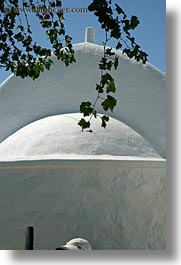 amorgos, branches, churches, domes, europe, greece, hats, vertical, white wash, photograph