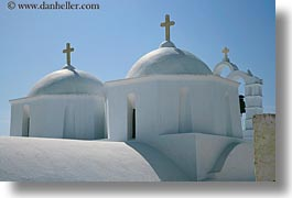 amorgos, churches, crosses, domes, europe, greece, horizontal, white wash, photograph