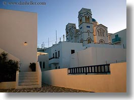 amorgos, bell towers, buildings, churches, europe, greece, horizontal, structures, tholaria, white wash, photograph