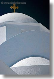 amorgos, churches, crosses, europe, greece, roofs, vertical, white wash, photograph