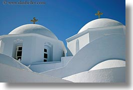 amorgos, churches, domed, double, europe, greece, horizontal, white wash, photograph