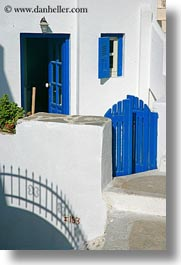 amorgos, blues, doors, doors & windows, europe, gates, greece, vertical, white wash, windows, photograph