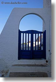 amorgos, archways, blues, doors & windows, europe, gates, greece, structures, vertical, photograph