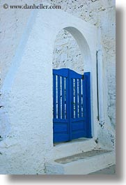 amorgos, archways, blues, doors & windows, europe, gates, greece, vertical, white wash, photograph