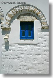 amorgos, arches, archways, blues, doors & windows, europe, greece, stones, structures, vertical, white wash, windows, photograph