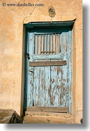 amorgos, blues, doors, doors & windows, europe, greece, lights, old, vertical, walls, yellow, photograph