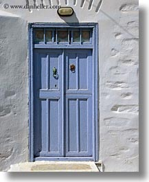 amorgos, bronze, doors, doors & windows, europe, greece, green, knockers, purple, vertical, white wash, photograph