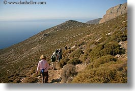 amorgos, europe, greece, hiking, horizontal, mountains, nature, ocean, paths, scenics, water, photograph